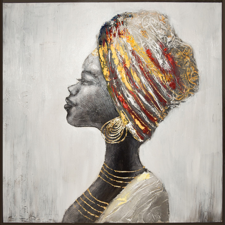 African Girl II Hand Painted Canvas
