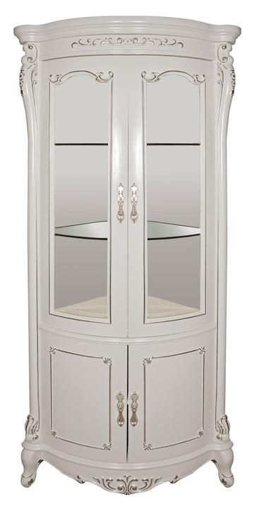Helene High Corner Cabinet in White