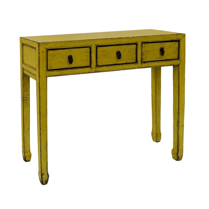 G868 - Handcrafted Chinese Cabinet in Yellow