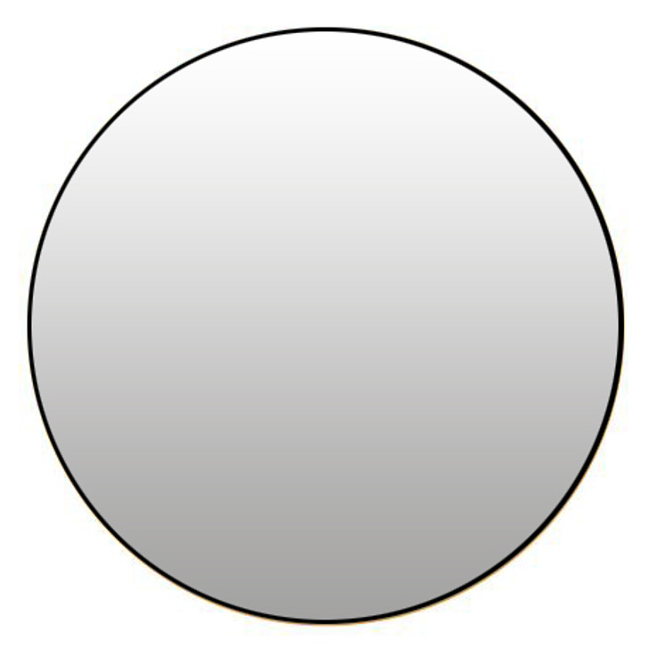 Sphere Mirror with Black Frame