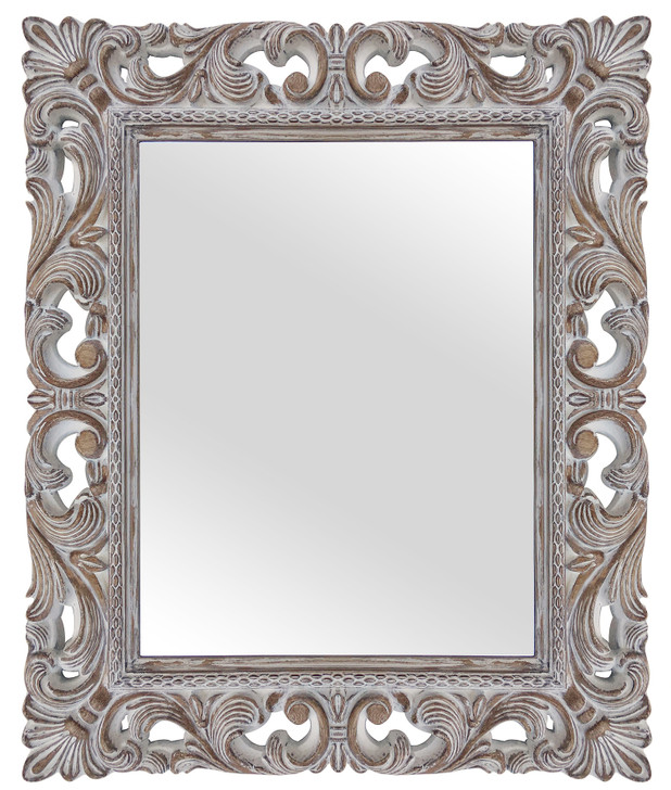Maison Carved Timber Mirror