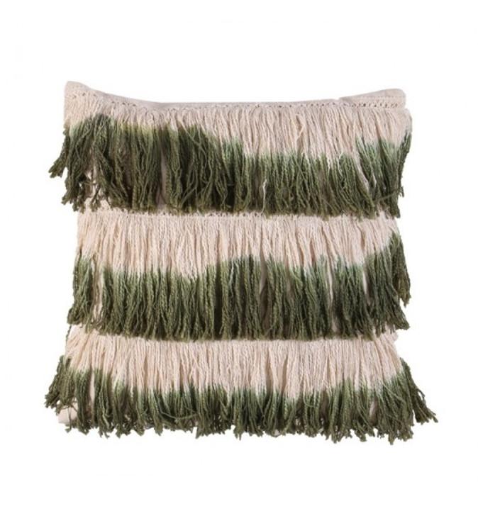 Afghan Row Khaki Cushion 50 x 50cm