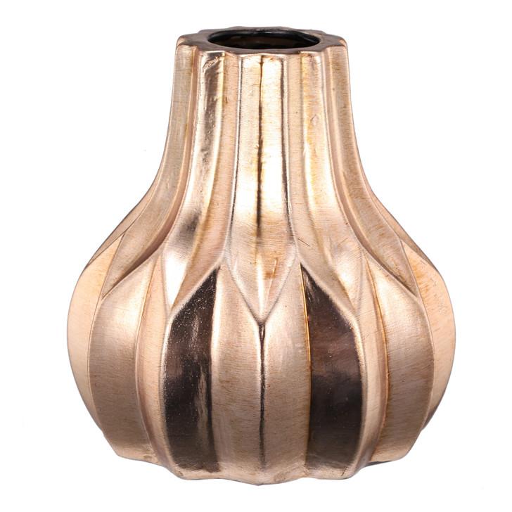 Zia glow short ceramic vase