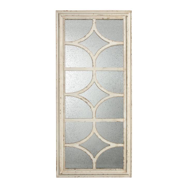 Cream rectangular mirror