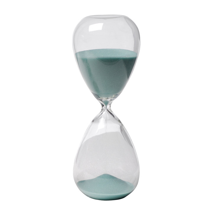 Hourglass with jade coloured sand (approximately 60 minutes)