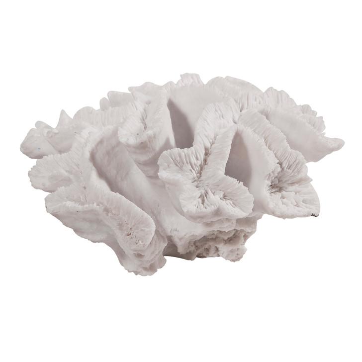 White faux coral decor