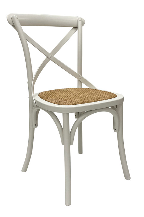 Vanilla Cross-Back Timber Dining Chair
