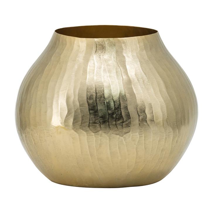 Round Gold Aluminium Vase