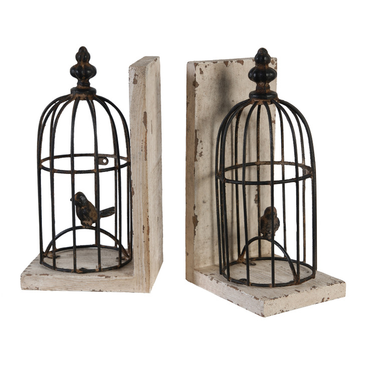 Birdcage Bookends
