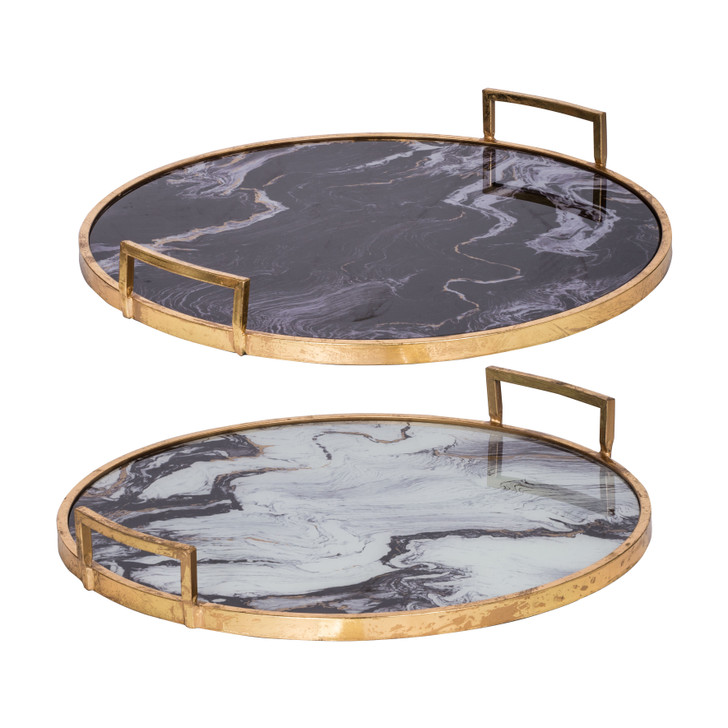 Marble & Gold Trays