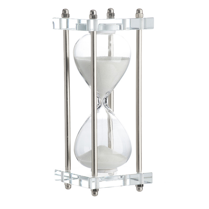 White Industrial Hourglass