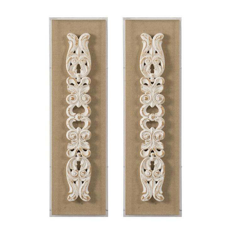 Carved Wall Art S/2