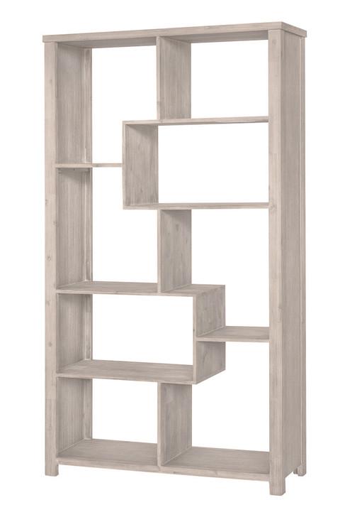 Avoca Whitewash Timber Bookcase