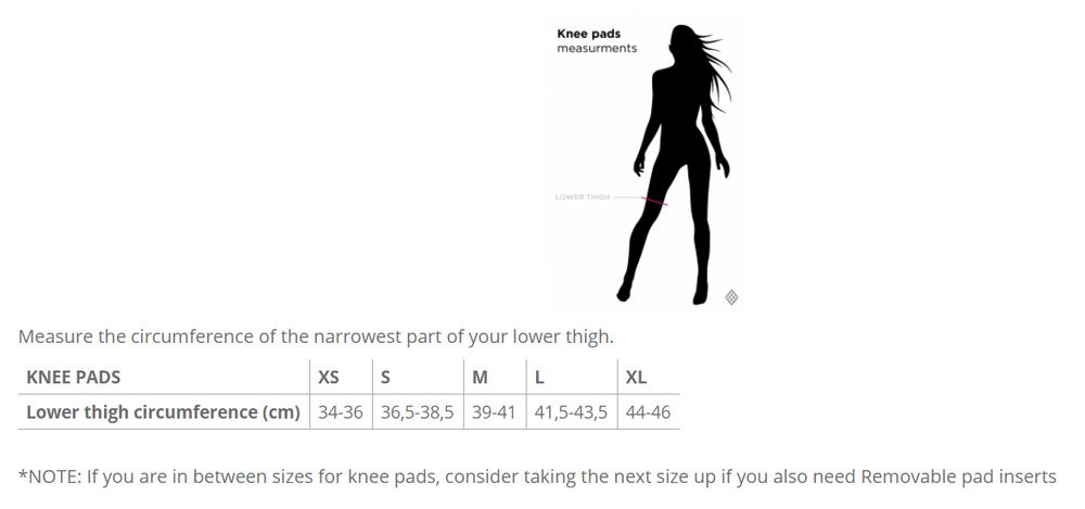 Poledancerka Knee Pads With Pocket - Black