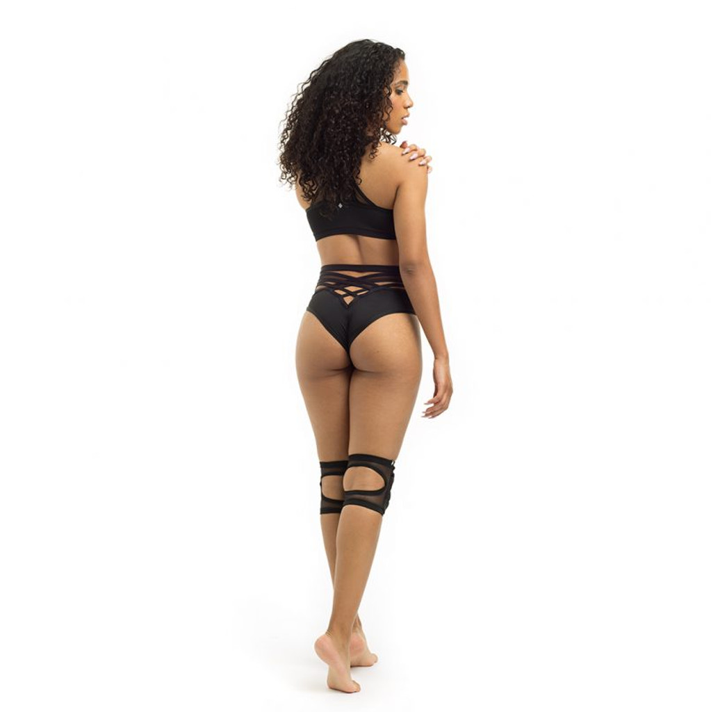 Poledancerka X High Leg Bottom  - Black