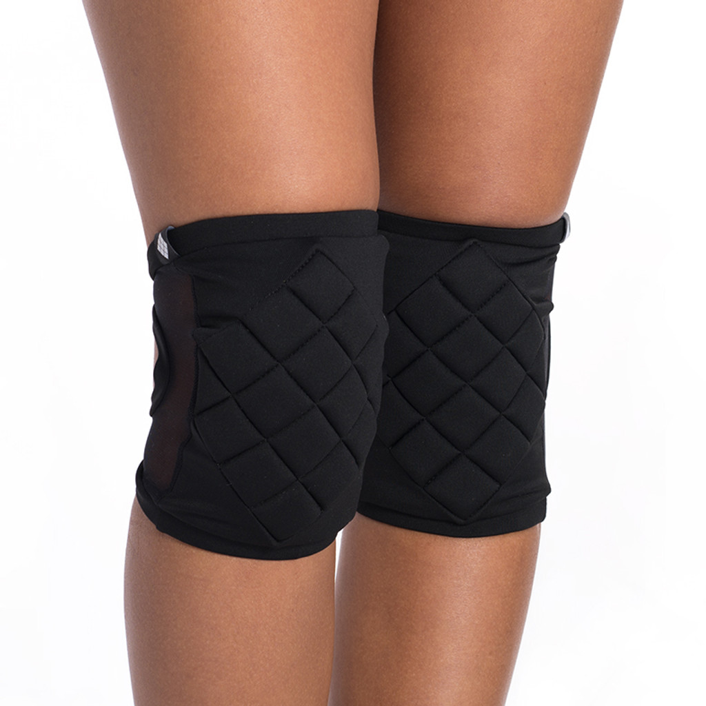 Poledancerka Knee Pads With Pocket - Black