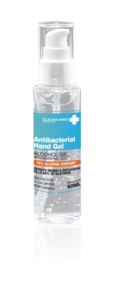 Pole Safe: Residue-free Antibacterial Hand Gel - 60ml - Refillable bottle