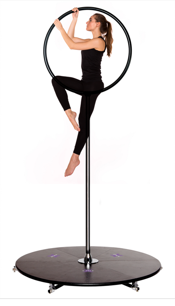 Lyra Pole Bundle: Buy the Black 45mm Pole Insert with The Lyrapole Hoop Attachment