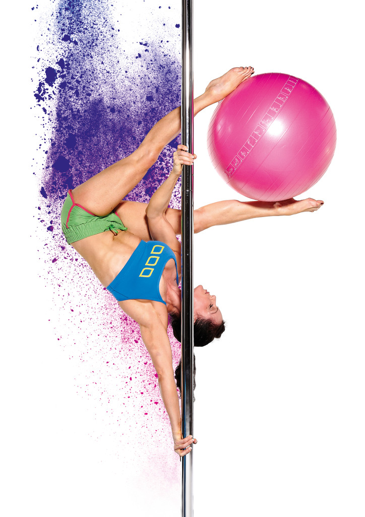 Dancing Pole Set:  X-POLE X-SPORT Removable Static pole
