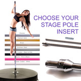 Choose your X-STAGE Pole Insert; Dance Poles for your Portable Stage Base