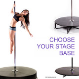 Choose your X-STAGE Base: Stage Bases for your Portable Dance Pole Insert