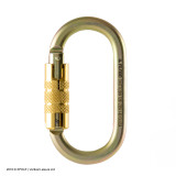 Carabiner-Auto Lock-MBS 25kN-Gold