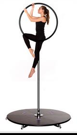 Lyra Pole Bundle: Buy the Black 45mm Pole Insert with The Lyrapole Hoop Attachment