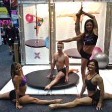 Our X-POLE team at the Australian Fitness Expo Chris Talbot, Maddie Sparkle, Andrea Ryff & Michelle Shimmy