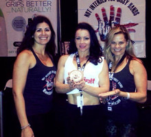 Pole Expo Jamilla & the Ripfix team next to the Pole Physics stall! Two great products together!!