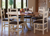 Round pedestal table chairs sold separately