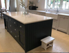 handmade kitchen and island and larder cupboards