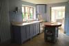 handmade kitchen and island