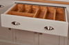 centre drawer with a Full width cutlery drawer insert