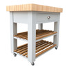 Butchers block with 1 drawer, hand made in the UK