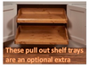 These pull out shelf trays are an optional extra