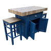 Butchers block with 2 stools also available