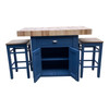 Cupboard kitchen butchers block island 2 stools version also available