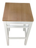 Stools -  which are part of the double ended butchers block kitchen island set.