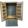 Oxford kitchen larder, available with option to have a pull out sliding shelf tray