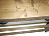 Kitchen island - reclaimed wood top, butchers block finish