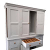 The Holkham kitchen larder is beautiful with 2 hidden end cupboards, pull out sliding shelf trays and a cutlery insert