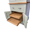 Kitchen larders, Stunning, solid wood sliding pull out shelf. Centre base cupboard with 2 pull out shelves for ease of access to all the cupboard space