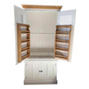 Kitchen larder with solid wood spice racks as standard