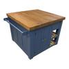Solid wood kitchen island, kitchen cupboard with towel rail