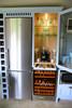 Handmade kitchens  Bespoke larder cupboards unit for coffee machine and drinks fridge