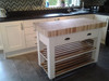 "Butchers Block Island in ""white tie"""