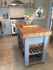 Butchers block island - on castors