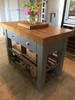 Butchers block island - on castors trolly