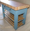 "butchers block island - colour ""stone blue"""