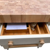superior, solid pine cutlery inserts tailored to fit your drawer perfectly. Please request 2 wooden Handles if required
